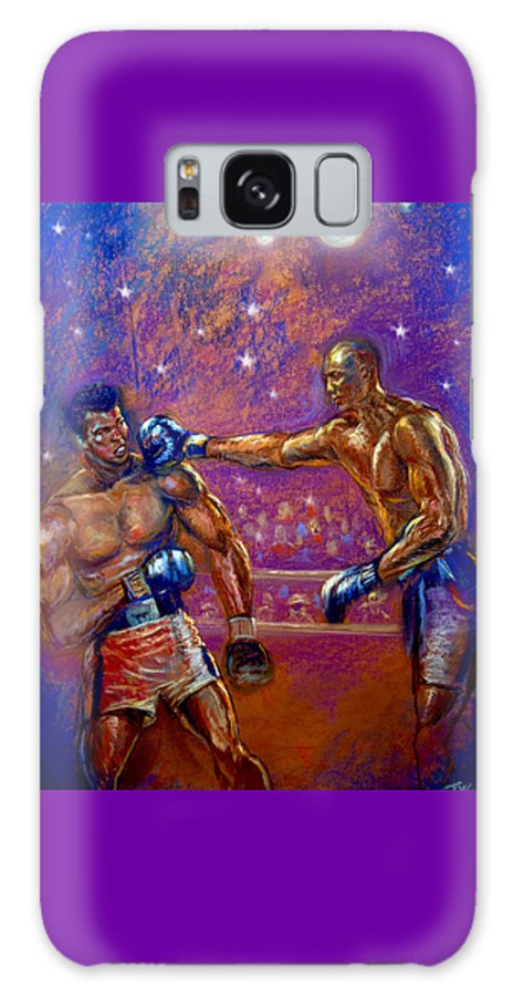 Boxing Galaxy S8 Case featuring the pastel the Greatest Muhammed Ali vs Jack Johnson by Tommy Winn