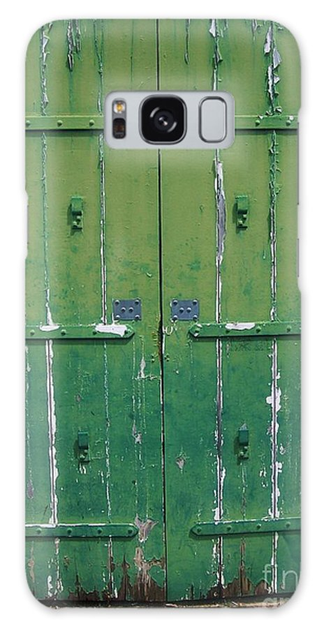 Architecture Galaxy Case featuring the photograph The Green Door by Debbi Granruth
