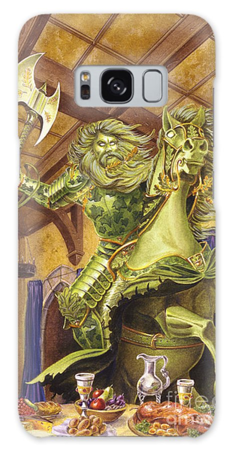 Fine Art Galaxy Case featuring the painting The Green Knight by Melissa A Benson