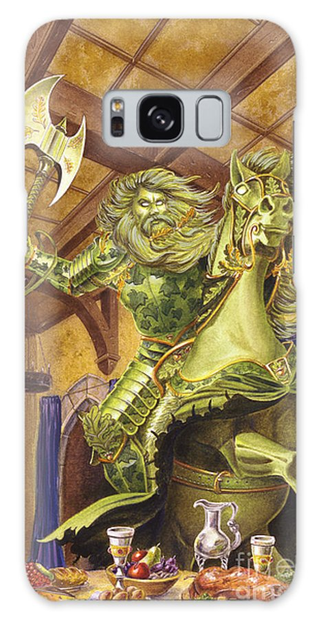 Fine Art Galaxy S8 Case featuring the painting The Green Knight by Melissa A Benson