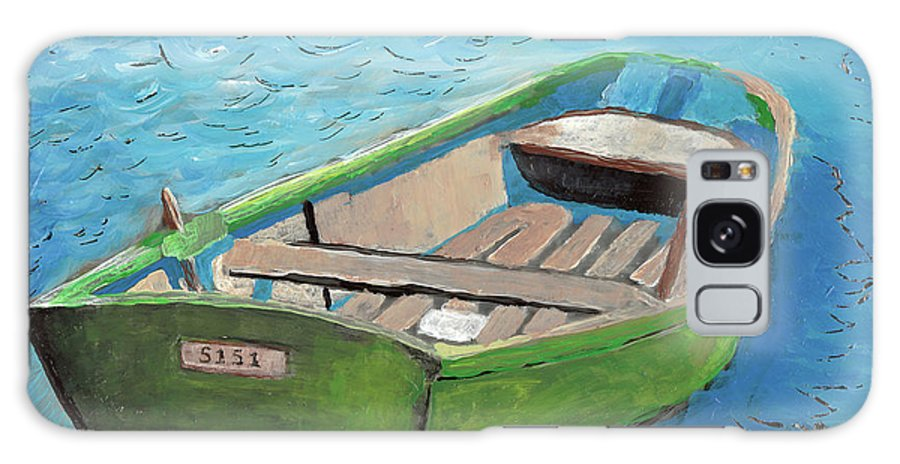Rowboat Galaxy S8 Case featuring the painting The Green Rowboat by William Bowers