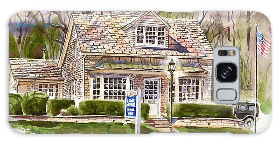 The Greystone Inn In Brigadoon Galaxy Case featuring the painting The Greystone Inn In Brigadoon by Kip DeVore