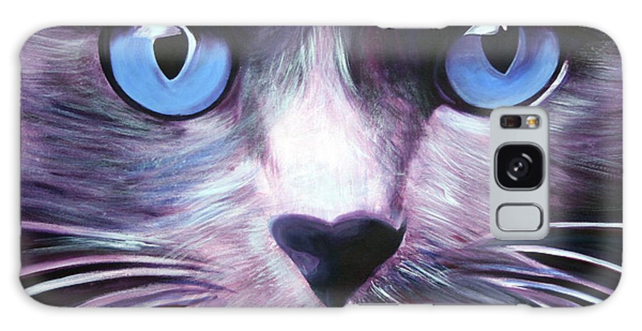 Cats Galaxy S8 Case featuring the painting The Guardian by Fiona Jack