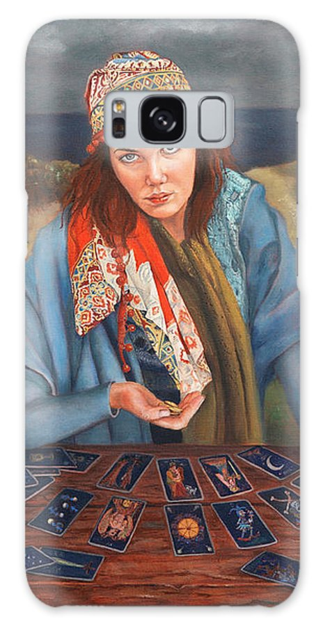 Figurative Art Galaxy S8 Case featuring the painting The Gypsy Fortune Teller by Portraits By NC