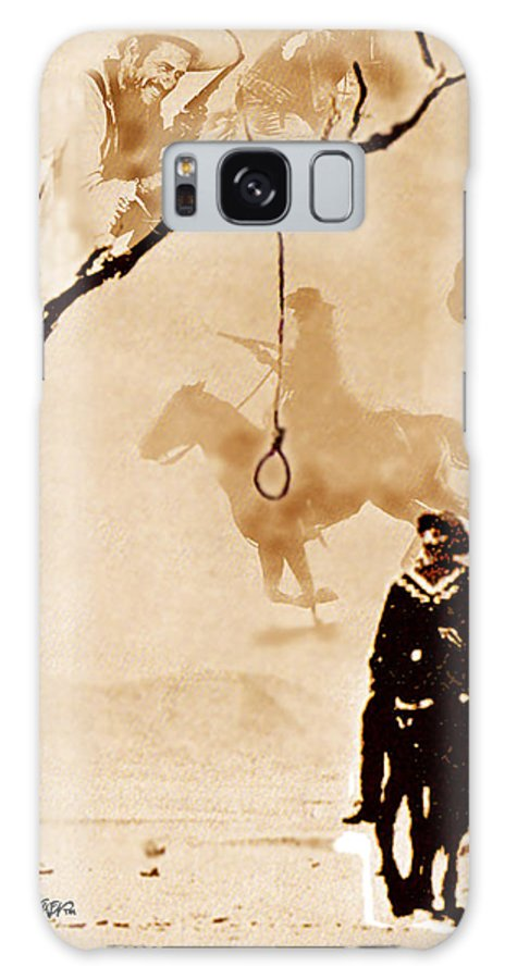 Clint Eastwood Galaxy Case featuring the digital art The Hangman's Tree by Seth Weaver