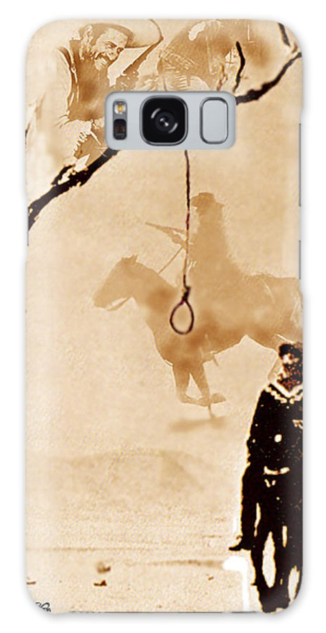 Clint Eastwood Galaxy S8 Case featuring the digital art The Hangman's Tree by Seth Weaver