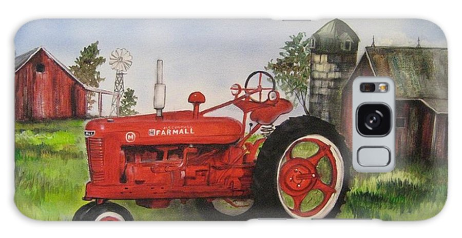 Farmall Galaxy S8 Case featuring the painting The Hansen Tractor by Kendra Sorum