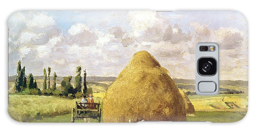 The Galaxy S8 Case featuring the painting The Haystack by Camille Pissarro