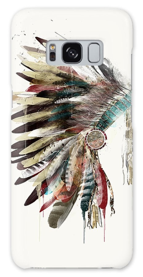 Headdress Galaxy S8 Case featuring the painting The Headdress by Bri Buckley