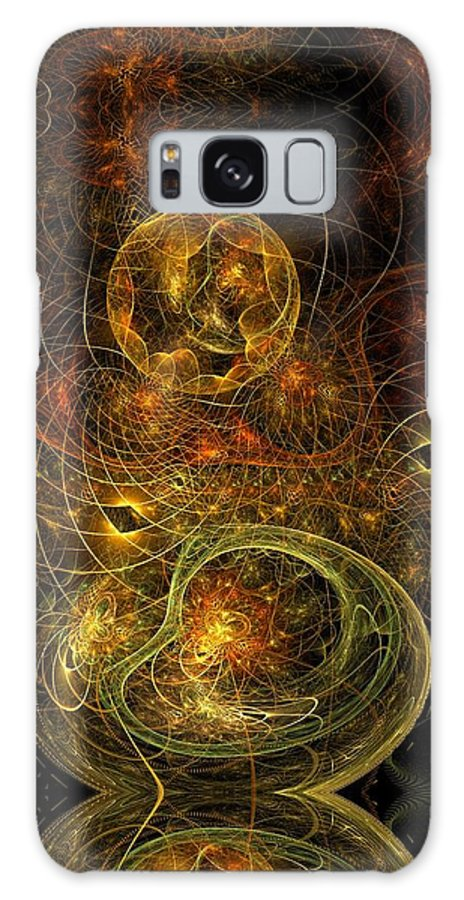 Fractal Galaxy S8 Case featuring the digital art The Heart Of Keemara by Gayle Odsather