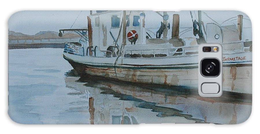 Boat Galaxy S8 Case featuring the painting The Helen Mccoll At Rest by Jenny Armitage