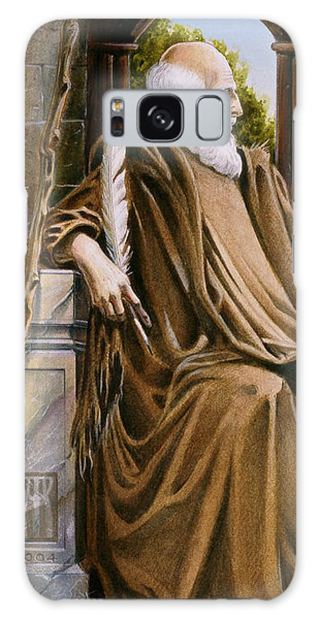 Wise Man Galaxy Case featuring the painting The Hermit Nascien by Melissa A Benson