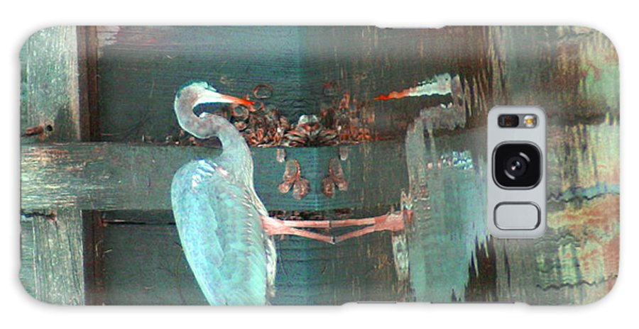 Abstract Galaxy S8 Case featuring the photograph The Heron Daze by Debbie May