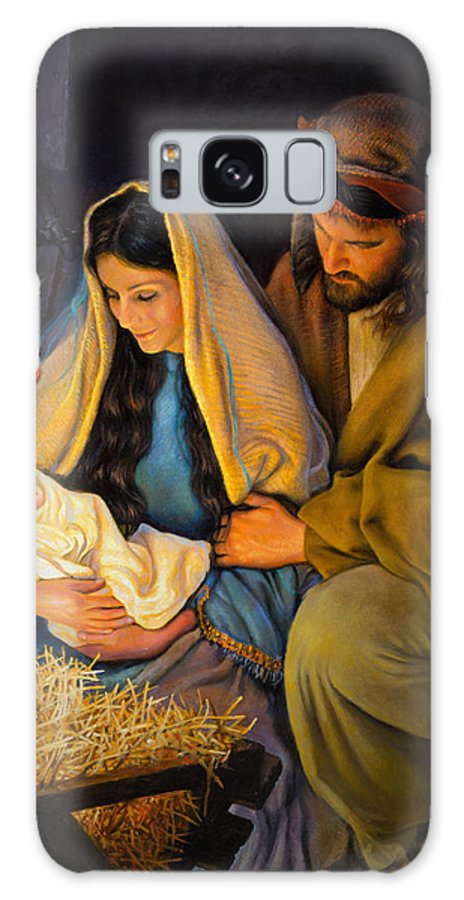 Jesus Galaxy Case featuring the painting The Holy Family by Greg Olsen