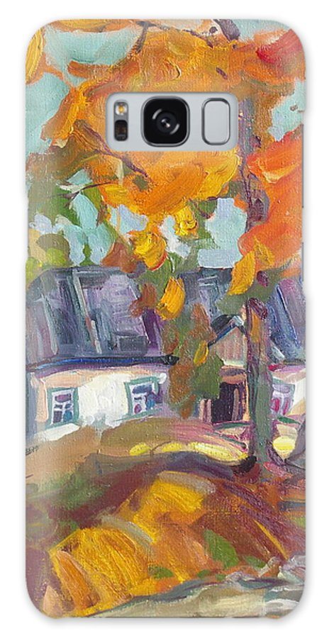 Oil Galaxy S8 Case featuring the painting The House In Chervonka Village by Sergey Ignatenko