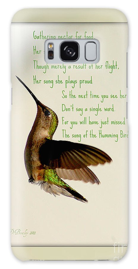 Bird Galaxy S8 Case featuring the photograph The Hummingbird by Donna Bentley
