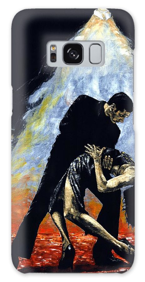 Tango Galaxy Case featuring the painting The Intoxication Of Tango by Richard Young
