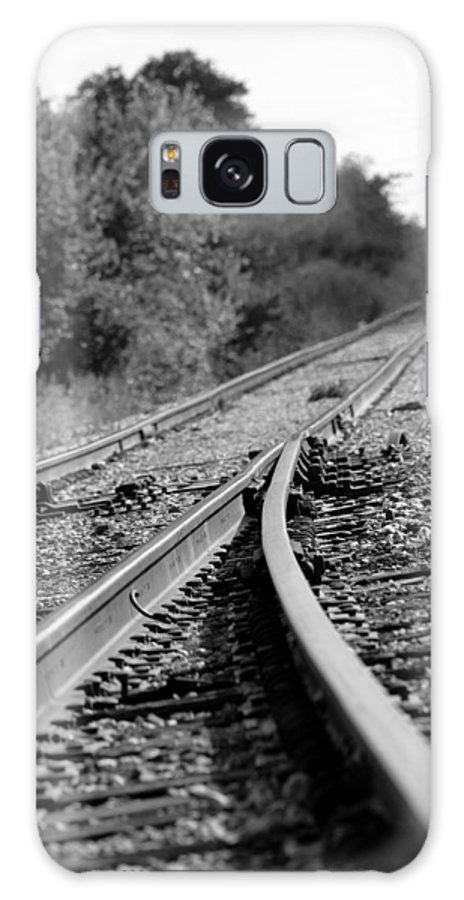 Rail Galaxy S8 Case featuring the photograph The Iron Road by Elizabeth Hart