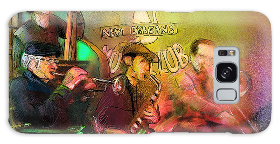 Jazz Galaxy S8 Case featuring the painting The Jazz Vipers In New Orleans 02 by Miki De Goodaboom