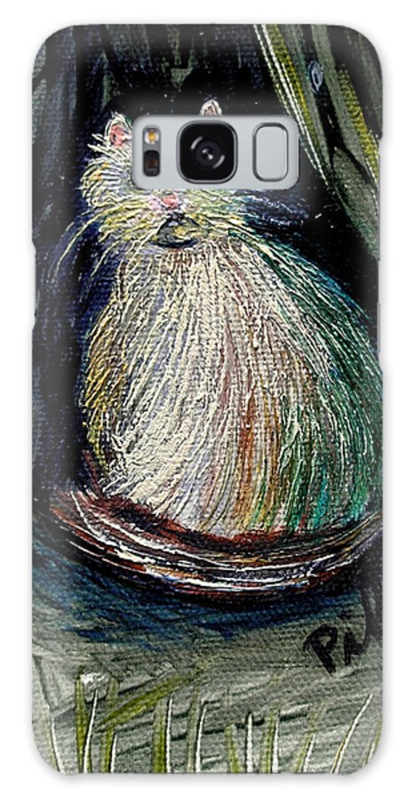 White Cat Galaxy S8 Case featuring the painting The Kitty Cat by Pilar Martinez-Byrne