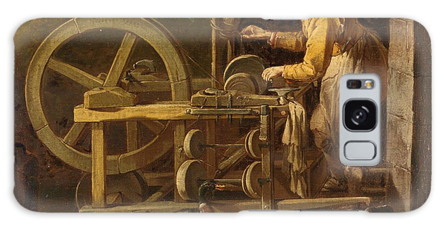 Attributed To Giacomo Francesco Cipper Galaxy S8 Case featuring the painting The Knife-grinder by Attributed to Giacomo Francesco Cipper