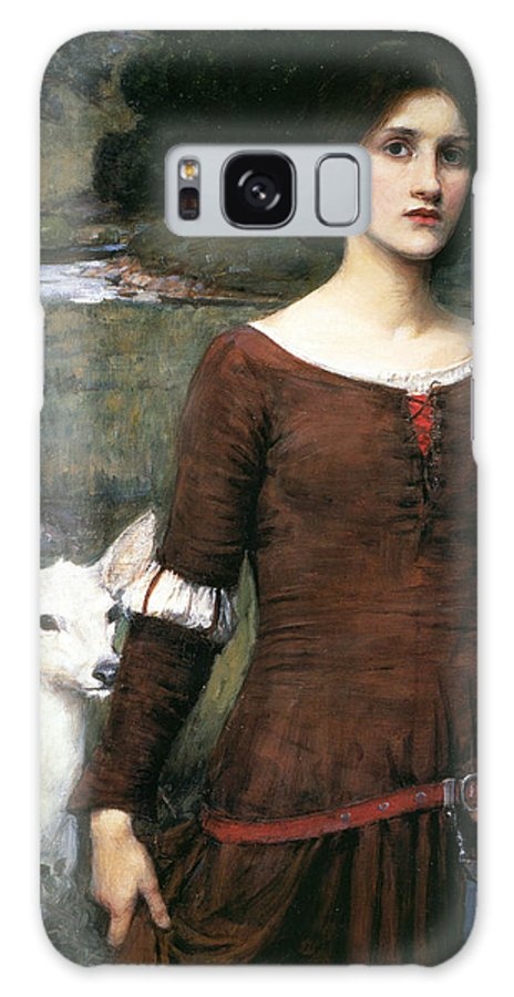 Pre-raphaelite Galaxy Case featuring the painting The Lady Clare by John William Waterhouse
