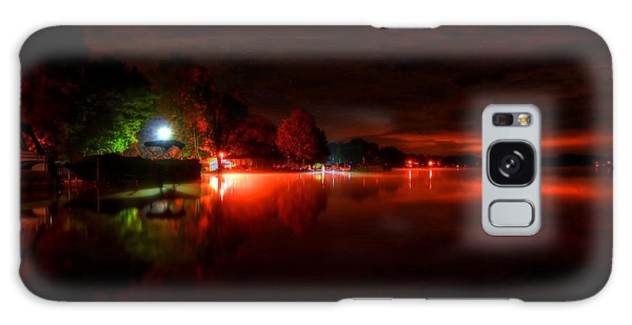 Night Galaxy S8 Case featuring the photograph The Lake At Nightfall by Michael Garyet