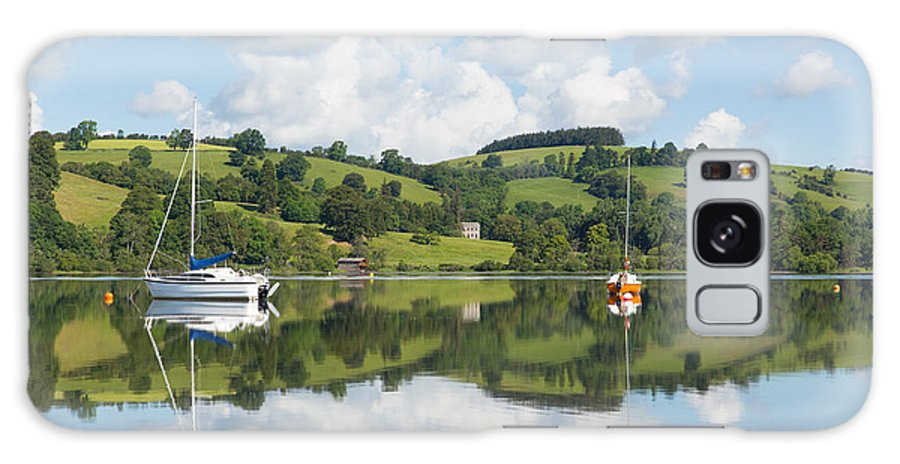 Boat Galaxy S8 Case featuring the photograph The Lake District Popular Beautiful Uk Holiday Destination Ullswater Cumbria North England by Michael Charles