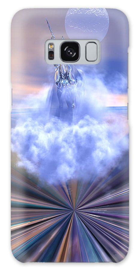Bryce Galaxy Case featuring the digital art The Last Of The Unicorns by Claude McCoy