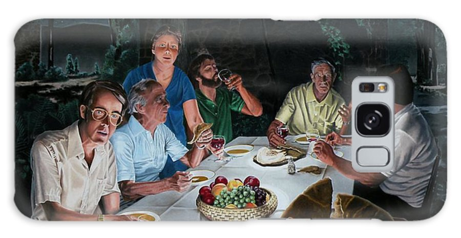 Last Supper Galaxy Case featuring the painting The Last Supper by Dave Martsolf