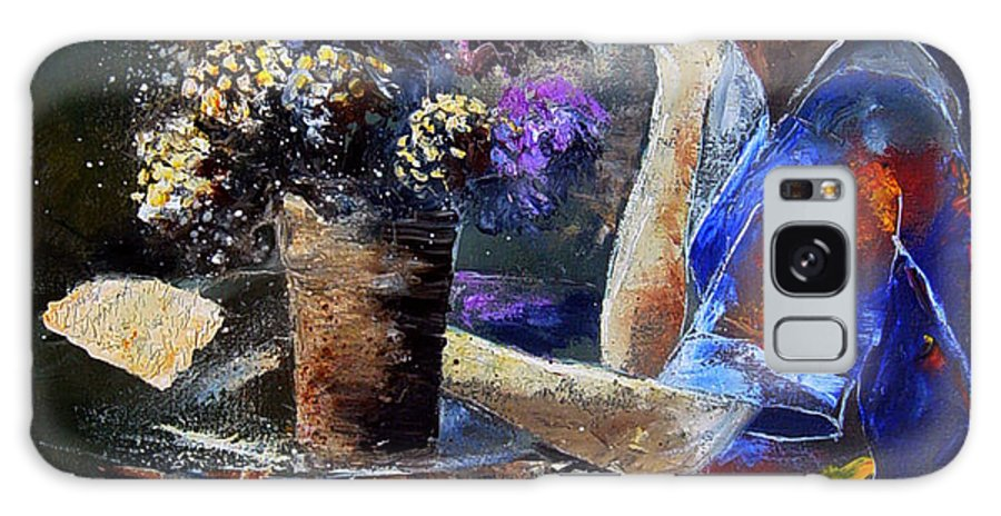 Girl Nude Galaxy S8 Case featuring the painting The Letter by Pol Ledent