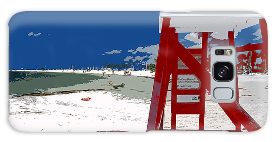 Lifeguard Stand Galaxy S8 Case featuring the painting The Lifeguard Stand by David Lee Thompson