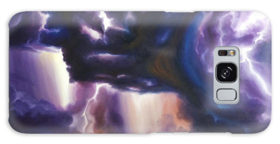 Tempest Galaxy Case featuring the painting The Lightning by James Christopher Hill