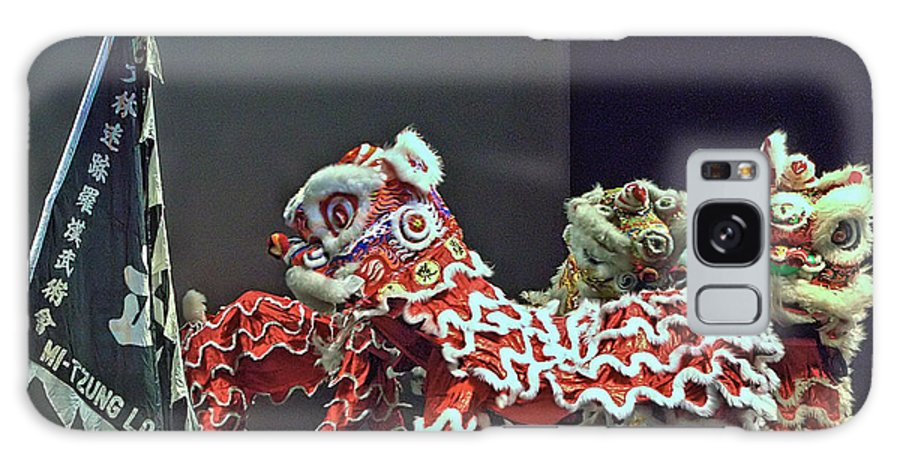 Lion Galaxy S8 Case featuring the photograph The Lion Dance Camarillo by Michael Gordon
