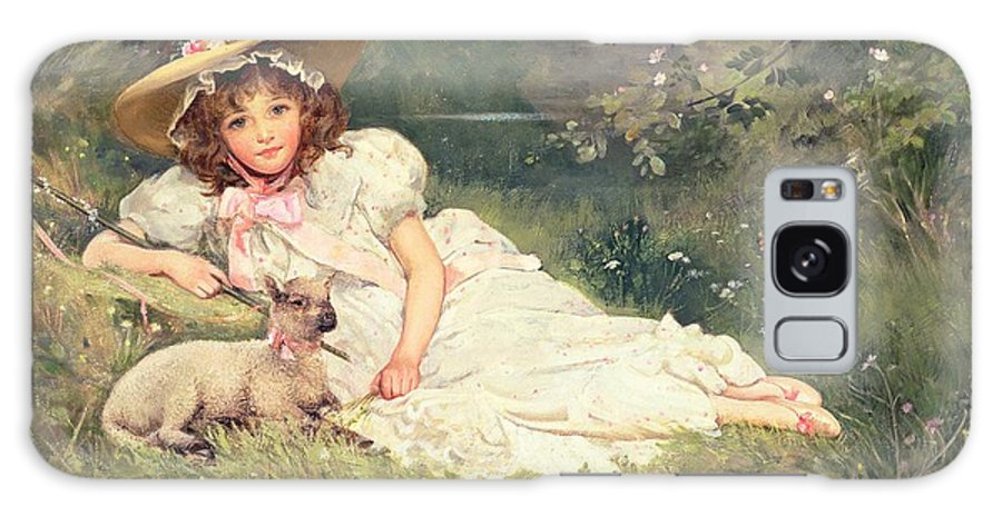 The Little Shepherdess Galaxy S8 Case featuring the painting The Little Shepherdess by Arthur Dampier May
