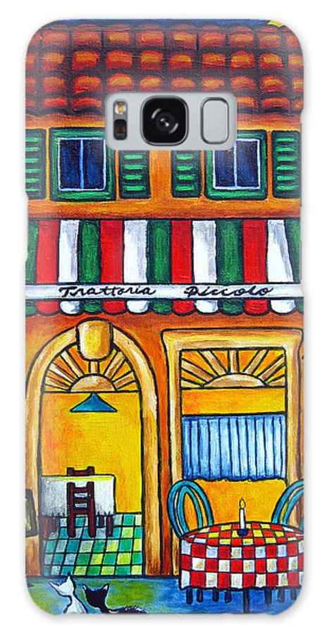 Blue Galaxy Case featuring the painting The Little Trattoria by Lisa Lorenz