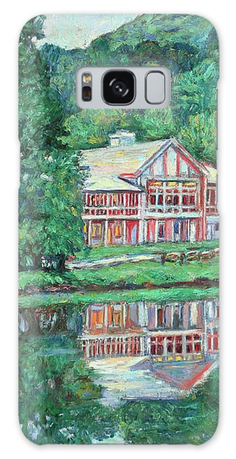 Lodge Paintings Galaxy S8 Case featuring the painting The Lodge At Peaks Of Otter by Kendall Kessler