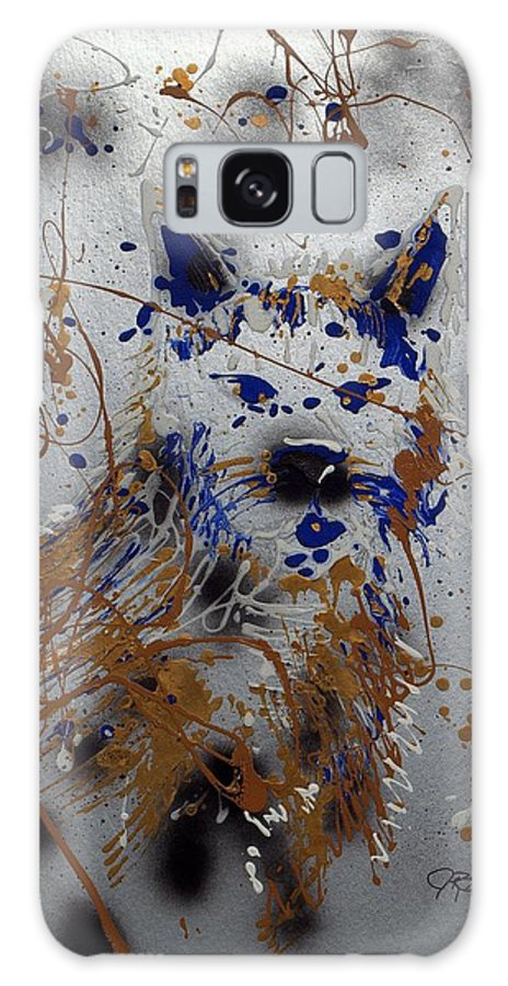 Impressionist Painting Galaxy S8 Case featuring the mixed media The Lone Wolf Canis Lupus by J R Seymour