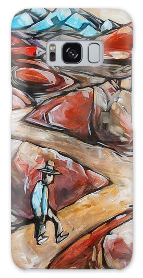 Road Galaxy Case featuring the painting The Long Road by Chad Elliott
