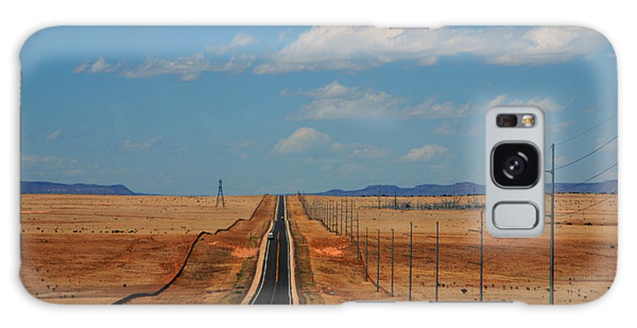 Long Road Galaxy S8 Case featuring the photograph The Long Road To Santa Fe by Susanne Van Hulst
