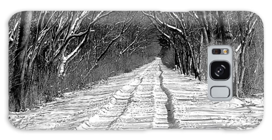 Galaxy S8 Case featuring the photograph The Long Winter Walk by Jenny Gandert