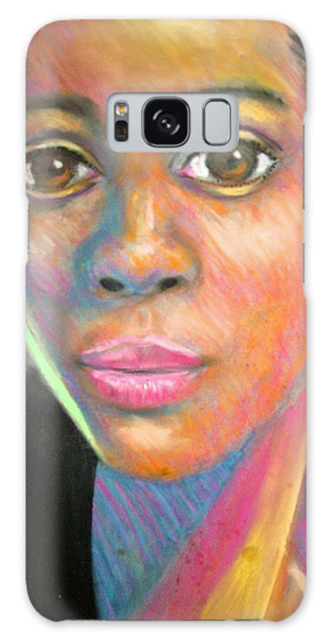 Portrait Galaxy S8 Case featuring the drawing The Look by Jan Gilmore