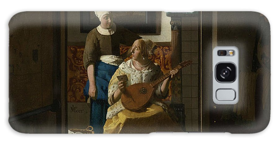 Jan Vermeer Galaxy S8 Case featuring the painting The Love Letter by Jan Vermeer
