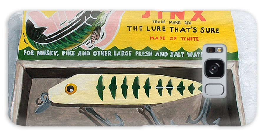 Fishing Galaxy Case featuring the painting The Lure That by Racquel Morgan