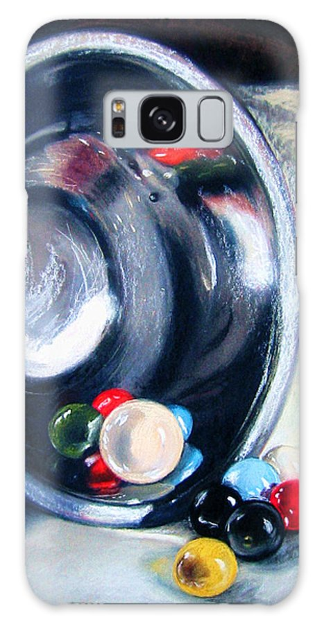 Marbles Galaxy Case featuring the pastel The Marble Bowl by Leyla Munteanu
