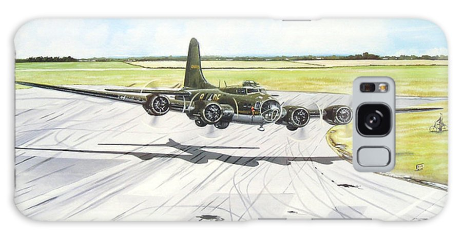 Military Galaxy S8 Case featuring the painting The Memphis Belle by Marc Stewart
