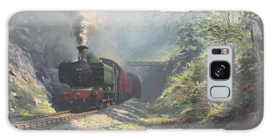 Steam Galaxy S8 Case featuring the painting The Merthyr Tunnel by Richard Picton