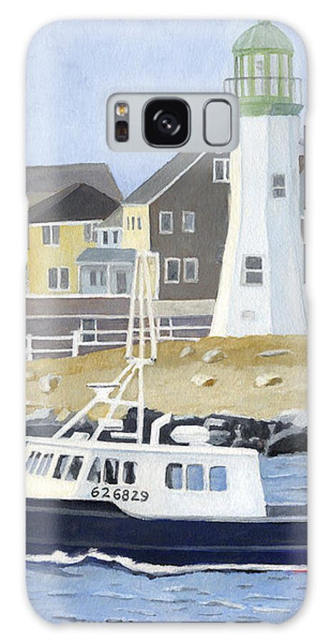 Fishingboat Galaxy Case featuring the painting The Michael Brandon by Dominic White