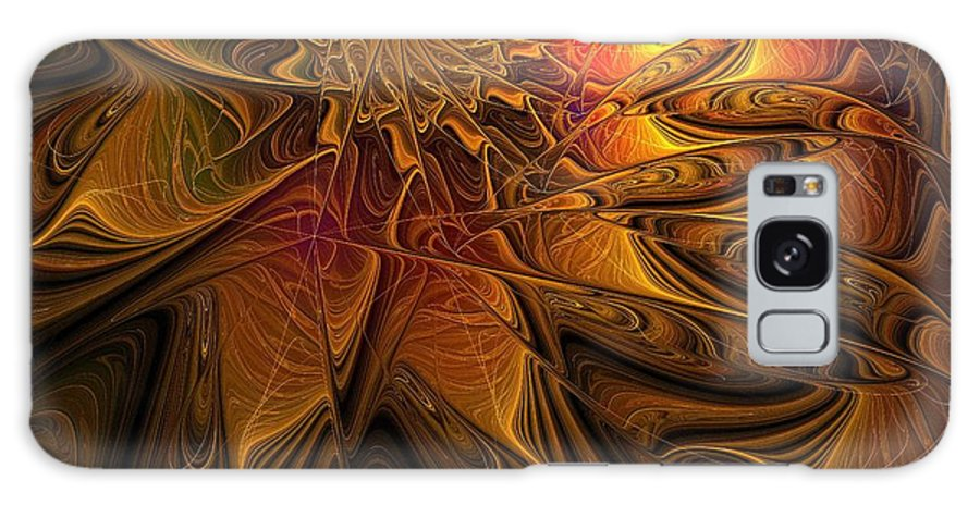 Digital Art Galaxy Case featuring the digital art The Midas Touch by Amanda Moore