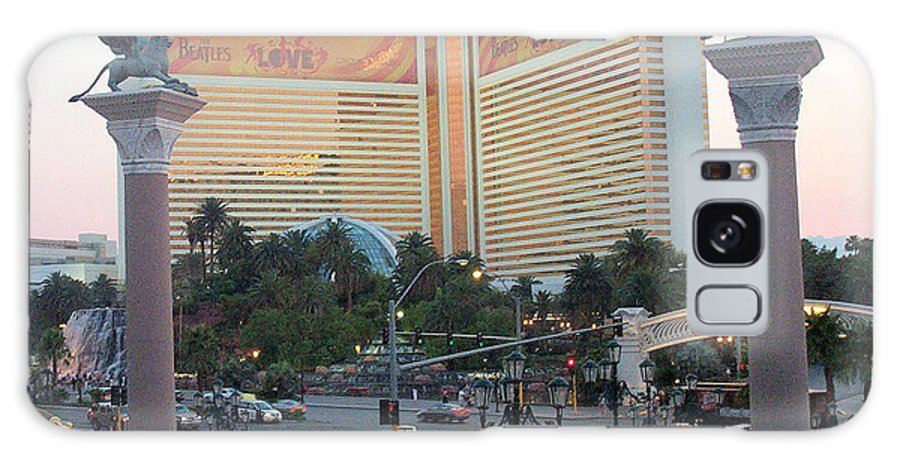 Mirage Galaxy S8 Case featuring the photograph The Mirage Las Vegas Nevada Scape by Alan Espasandin
